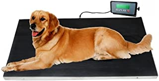 Heavy Duty 660 Pounds Veterinary Dog Scale with Stainless Steel Platform and Rubber Mat for Dog Cat Pet Alpaca Llama Sheep Fish Vet