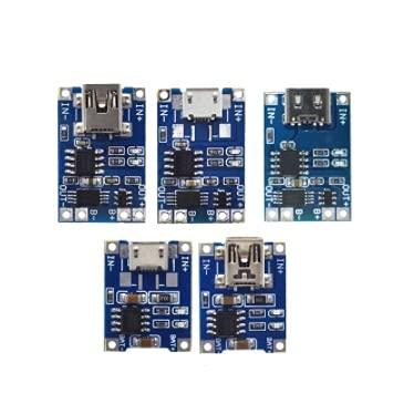 Módulo electrónico 1pc Smart Electronics Type-C para Micro para USB, Tablero de Carga de batería de Litio con módulo de Cargador de protección Kit DIY (Color : Mini USB 1A)