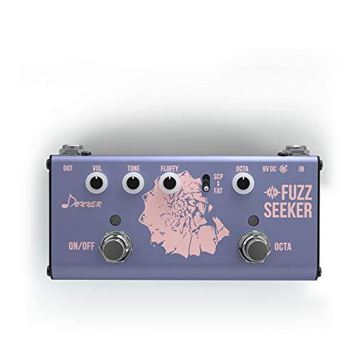 Donner Fuzz Seeker Classics Octave Fuzz Pedal para guitarra y bajo