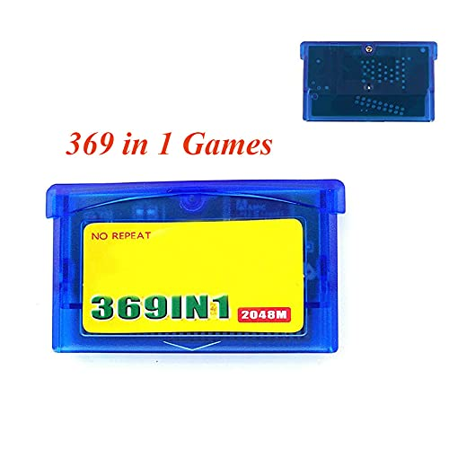 369 In 1 Game Cartridge Card, Super Combo Classic Gameboy Collection, 32 Bit Retro Video Game, 【English Version】, for GBA/ GBM/ GBA SP/ NDS/ NDSL All Version Console