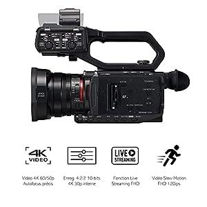 Panasonic HC-X2000E Profi Camcorder (4K Video, Kamera mit LEICA Objektiv, 25mm Weitwinkel, 24x optischer Zoom, Autofokus, professionelle Videokamera)