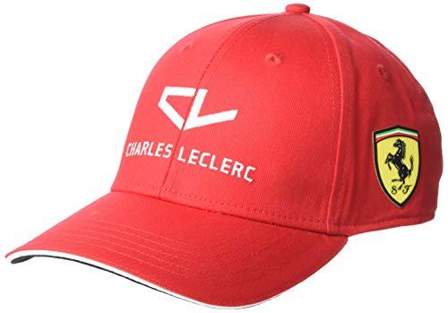 Fuel For Fans Unisex Formel 1 Scuderia Ferrari 2020 Driver Cap, Charles Leclerc, Rot, Einheitsgröße