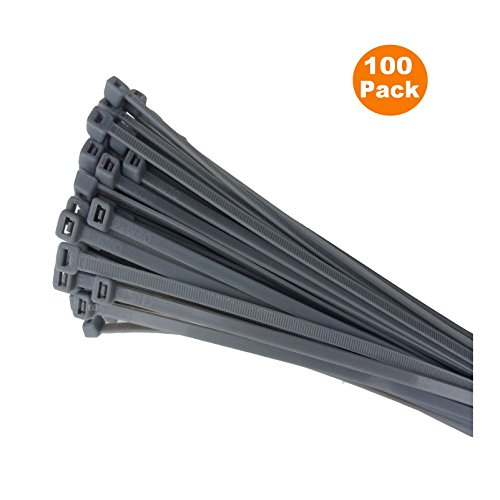 USA Made Cable Ties//Tie Wraps// Zip Ties 8 Inch 40lb 100 Pack Fluorescent