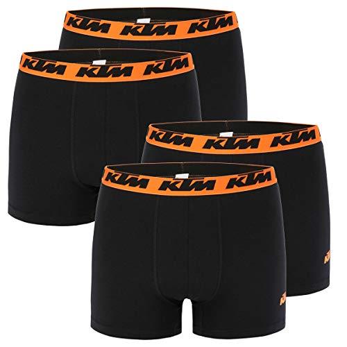 KTM Boxer Men Herren Boxershorts Pant Unterwäsche 4 er Multipack, Farbe:Black2, Bekleidungsgröße:L