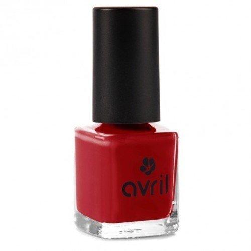 AVRIL - Vernis à Ongles Vegan Sans produits Chimiques - Rouge Opera 19 - Application...
