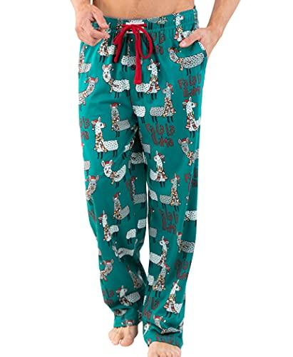 Lazy One Matching Family Pajama Sets for Adults, Teens, Kids, and The Dog (FA La La Llama, Large)