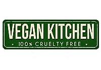 なまけ者雑貨屋 Vegan Kitchen アメリカン ビンテージ風 レトロ アンティーク ブリキ看板 メタルプレート 屋内 用
