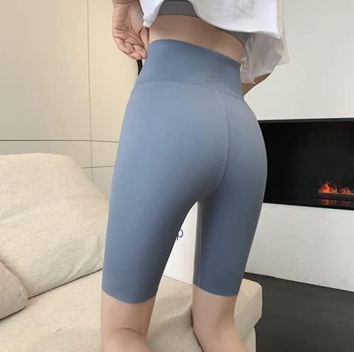 Hupocun Leggings De Cinco Puntos Pantalones De Montar para Mujer Pantalones Cortos De Cadera Barbie Ajustados Pantalones De Yoga De Fitness Líquido