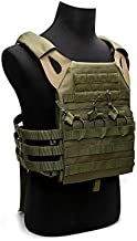 Tactical Airsoft Outdoor Molle Breathable JPG Vest Game Protective Vest Modular Chest Set Vest for fun (OD Green)