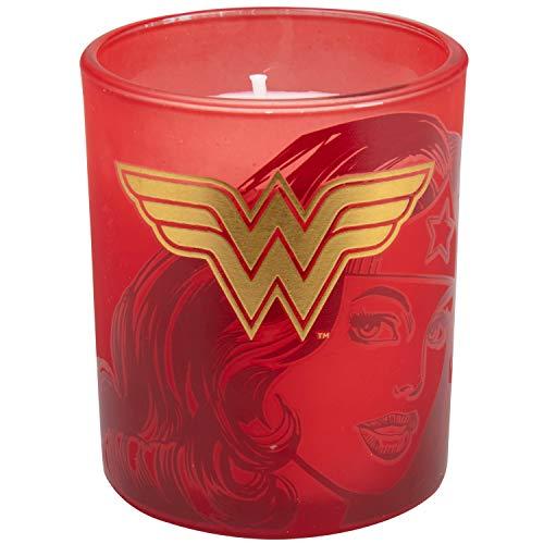 Product Image 2: Insight Editions DC Comics Justice League Glass Votive Candles – Set of 4 – Superman, Wonder Woman, Flash, Batman – Unscented – 3 oz Each