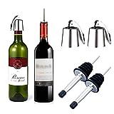 Tapones para botellas de vino, 2 tapones para botellas de vino, 2 unidades de acero...