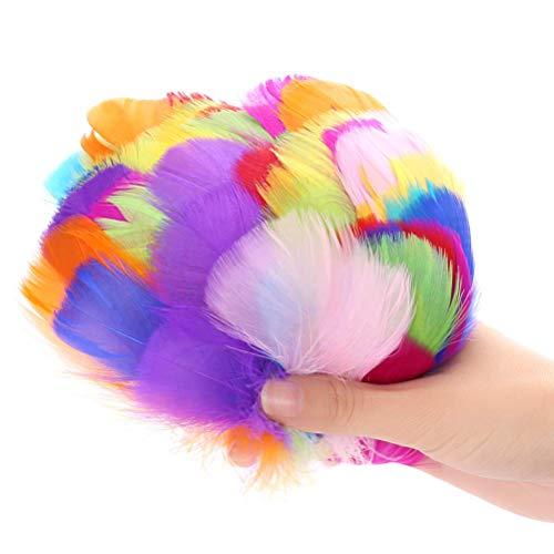 Plumas de Colores,300 Piezas Carnaval Decoracion Pluma Naturales Gansos Manualidadesl para Atrapasueños de Sueños 8~12 cm Mezclado en 10 colores