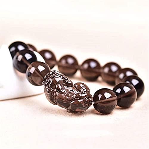 AMOZ Amigo Charm Bracelet, Feng Shui Wealth Bracelet Pixiu Pulsera Prosperity Natural Ice Seed con Pixiu/Brazalete de la Suerte Piyao Attract Money para Mujer/Hombre,8 Mm