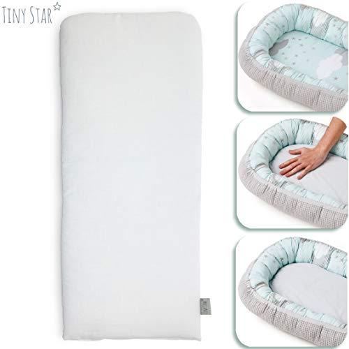 TINY STAR: Baby Pod Pad für unser Babynest - Zusätzliche Kinderwagenmatratze - Leicht zu waschen und schnell zu trocknen 25 x 68 cm (Grey)