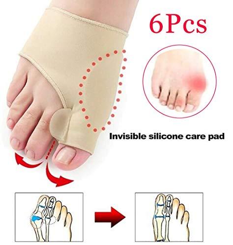 SUMMER Separadores de Dedos, Corrector de juanetes Separador de Dedo Gordo Alineación de valgo Hallux Pedicura Pedicura ortopédica Calcetines Herramienta para el Cuidado de los pies