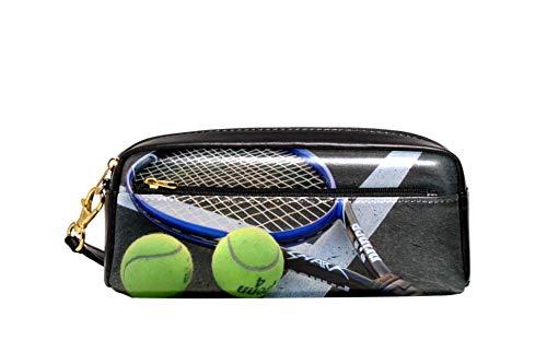 tennis Astuccio Organizzatore di cancelleria a forma di matita per studenti maschi e femmine con cerniera grande capacità in pelle Oxford 20.5x5x8.5cm