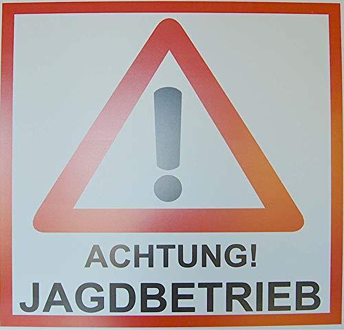 Jehn Warnschild Revierschild Jagdbetrieb, weiß/rot, 50cm