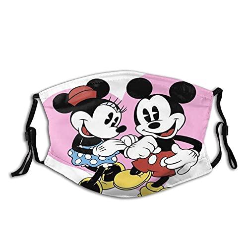 Máscara facial para mujeres y hombres, Mickey y Minnie Mouse (1) ~ 2...