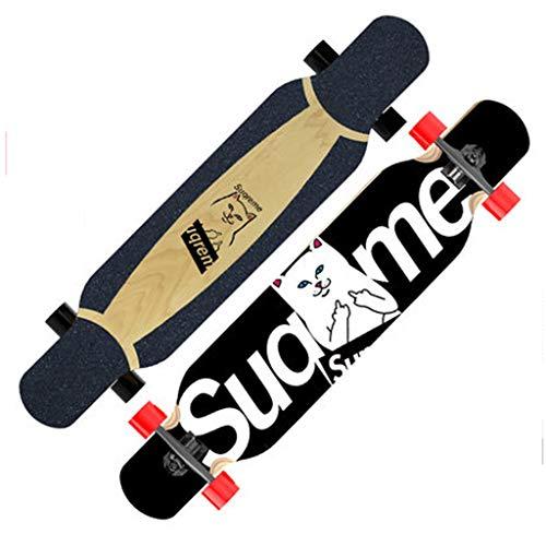 Lowest Price! LLH-MOTION Freestyle Longboard Longboard Skateboard Adults Beginners Kids Girl Boys Hi...