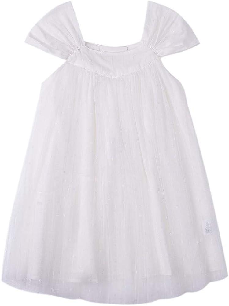 Nobranded Girls' Summer Casual Dresses Cotton Short Sleeves Dresses