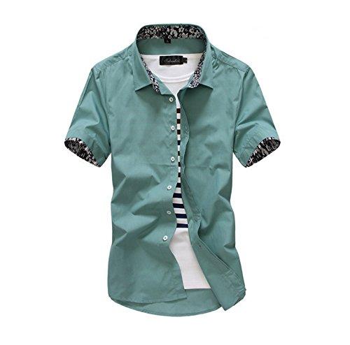 Broad & profound Homme Chemises Casual Shirt Tops Mode Men Tee Shirt,Vert,4XL