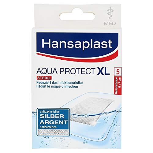 Hansaplast med Aqua Protect Pflaster XL 6x7 cm, 5 St