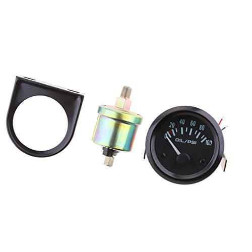 MagiDeal Öldruckmesser Öl/Kraftstoff-Manometer 0-100 PSI Beleuchtung Anzeige für PKW-LKW