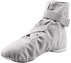 MSMAX Dance Sneakers Canvas Women's Ballroom Jazz Character Ballet Dance Shoe White 9 M US Women