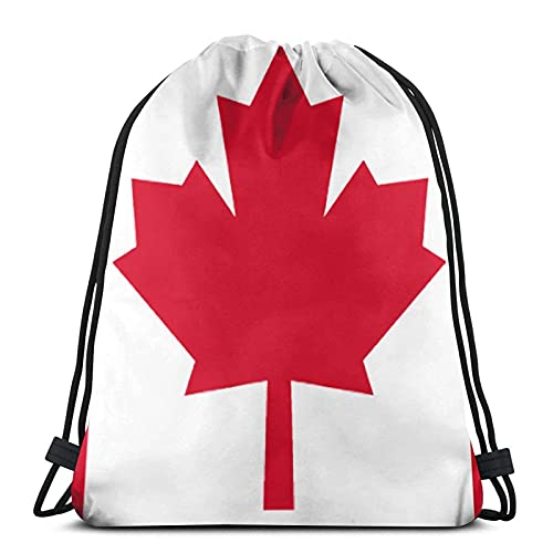 DJNGN Canada Water Resistant String Bag Sports Sackpack Gym Sack para Hombres Mujeres