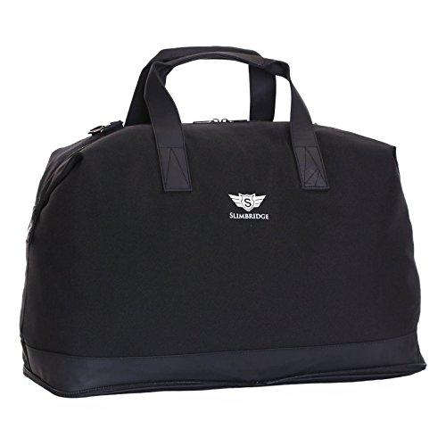 Slimbridge Tuzla bolso de viaje plegable, Negro