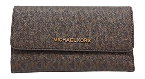 synthetic-and-fabric Snap Closure, 4 Open Pockets, 18 Credit Card Slots Signature Coated Canvas 7.5''L X 5''H X 1''W
