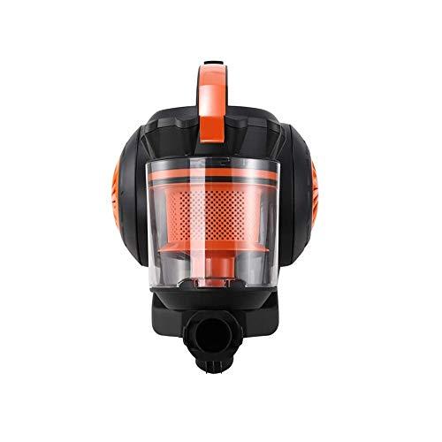 MYXMY Aspiradora, 2000w Alta Corriente de la Red de automóvil pequeño Silencio alfombras de Pelo, Naranja (43x26x33cm)