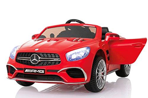 RC Auto kaufen Kinderauto Bild 4: Jamara 460294 Ride-on Mercedes SL65 rot 12V-Softanlauf, 2-Gang, Stoßdämpfer, SD-Slot, AUX-und USB-Anschluss, LED, Hupe, bis zu 90 Min. Fahrzeit, Ultra-Gripp Gummiring*