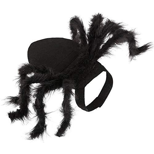 Disfraz De Arnés De Araña para Mascotas, Ropa De Araña para Mascotas De Halloween, Simulación De Gato Y Perro, Arañas De Felpa, Vestimenta para Fiesta, Negro