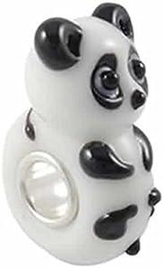 Sexy Sparkles Abalorio de cristal de Murano para mujer, diseño de oso panda