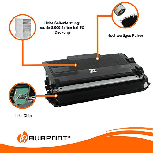 5 Bubprint Toner kompatibel für Brother TN-3480 TN-3430 DCP-L5500DN HL-L5000D HL-L5100 HL-L5100DN HL-L5100DNT HL-L5100DNTT HL-L5200DW HL-L6400DW MFC-L5700DN MFC-L5750DW MFC-L6800DW Schwarz
