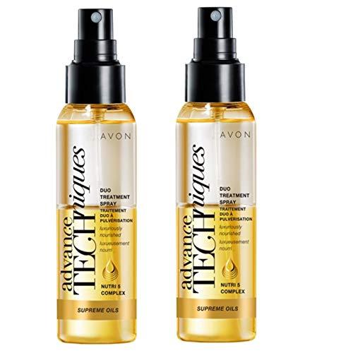 2x Avon Advance Techniques Supreme Ölen, Duo Behandlung Spray