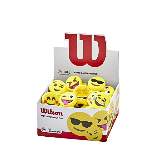 Wilson Vibration Dampeners with Emoji Motifs, 50-Pack, Yellow/Black, WR8404901001