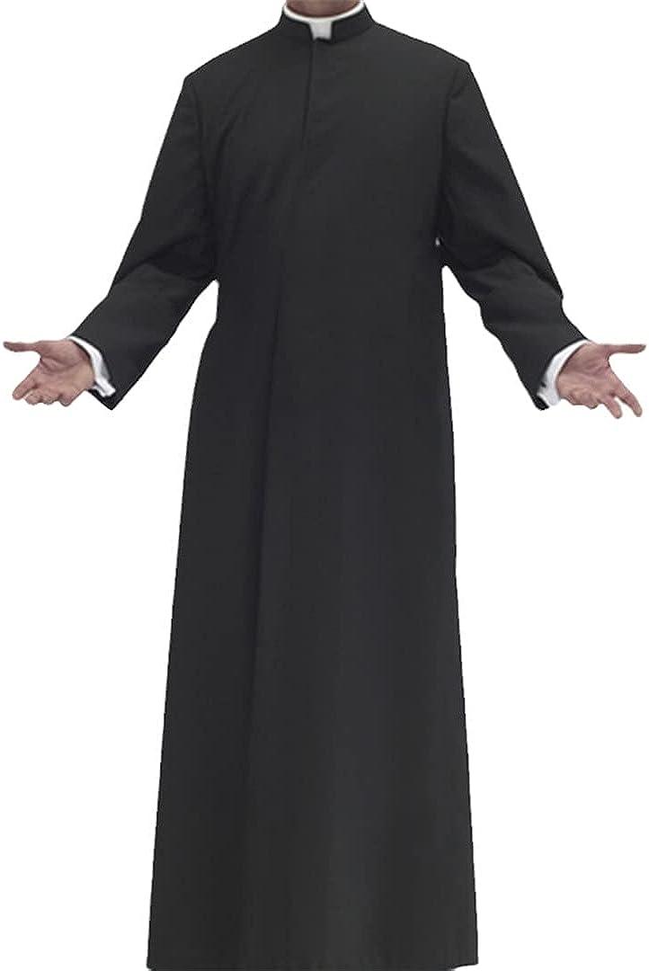 Eyastvgnf Men Long Sleeve Solid Color Muslim Clothes Islamic Kaftan Abaya Dubai Arabia Mens Robes