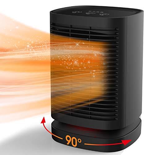 Uvistare Calefactor Eléctrico Portátil Calentador 950W Calefactor de Aire Caliente Termoventiladores de Ventilador Calentador de Cerámica de PTC para Hogar y Oficina Protección del Sobrecalentamie