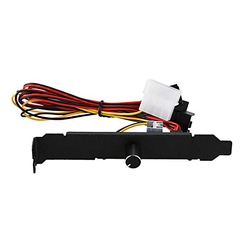Vaorwne 3 Channels PC Cooler Cooling Fan Speed Controller for CPU Case HDD VGA Fan for PCI Temperature Control Regulation 12V 3Pin