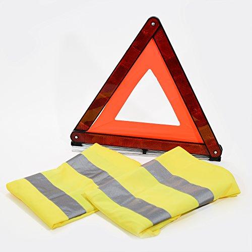 Haute visibilité de sécurité sans x2 + Route Triangle d'avertissement de sécurité