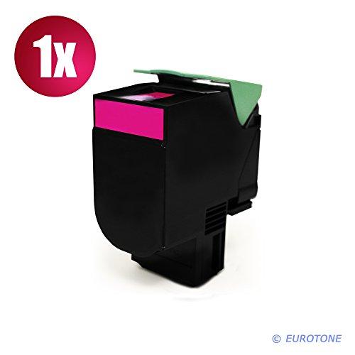 Eurotone Kompatibler Toner Magenta XXL für Lexmark CX310 CX410 CX510 Drucker - ersetzt 80C20M0 / 802M