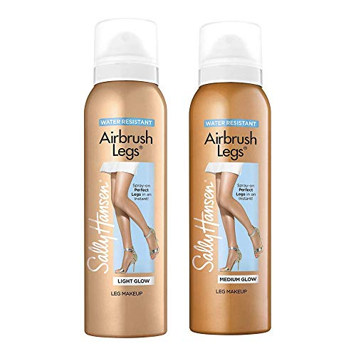 Sally Hansen Airbrush Legs Leg Makeup Spray, Light Glow and Medium Glow, Value Pack, 4.4 Ounce
