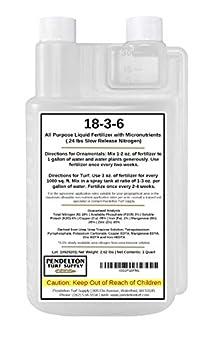 18-3-6 All Purpose Liquid Fertilizer & Mirconutrients  50% Slow Release Nitrogen   32 oz
