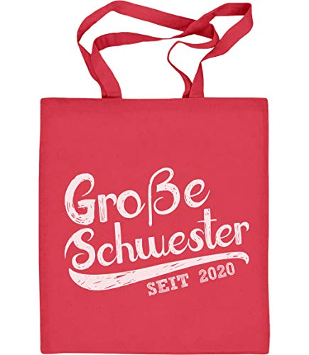 Große Schwester sinds 2020 zus cadeau jute zak katoenen tas Eén maat rood