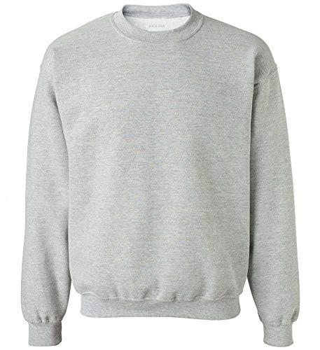 Joe's USA - Soft & Cozy Crewneck Sweatshirts, L Sport Grey