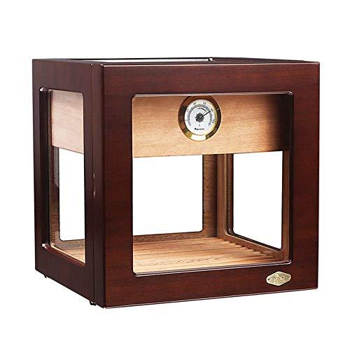 LIZANAN Caso Cedar humidor de Puros Creativo Pequeño Transparente Vitrina Piano Pintura Humidor Humidor