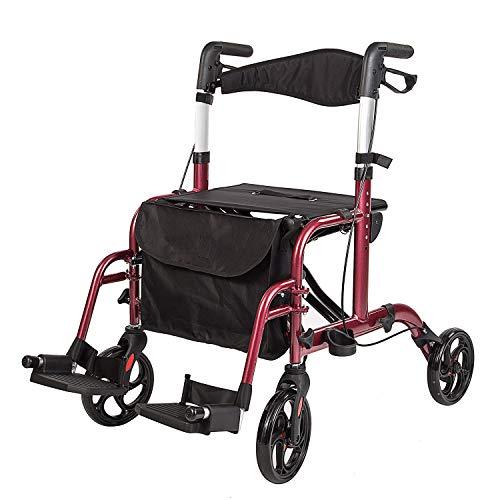 車椅子 歩行器 アシストウオーカー 室内室外兼用歩行車 歩行補助 ブレーキ機能 アルミ合金製 4輪歩行器 高さ調節可