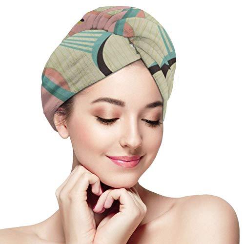 XBFHG Envolturas de toallas de microfibra para el cabello